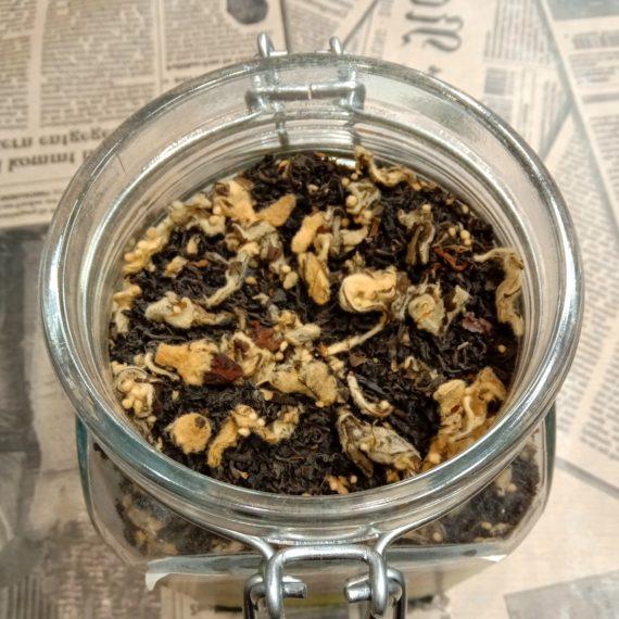 Грузинский чёрный чай с айвой