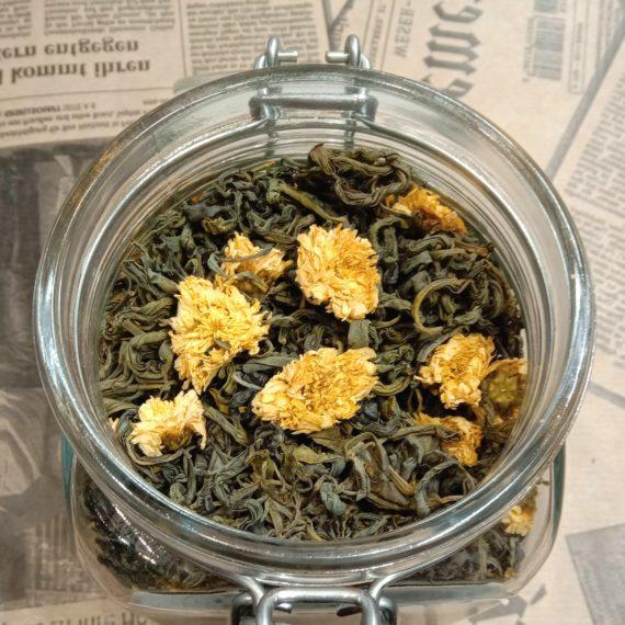 Грузинский зелёный чай с хризантемой
