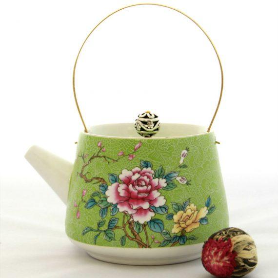 Чайник заварочный фарфоровый «Розы»