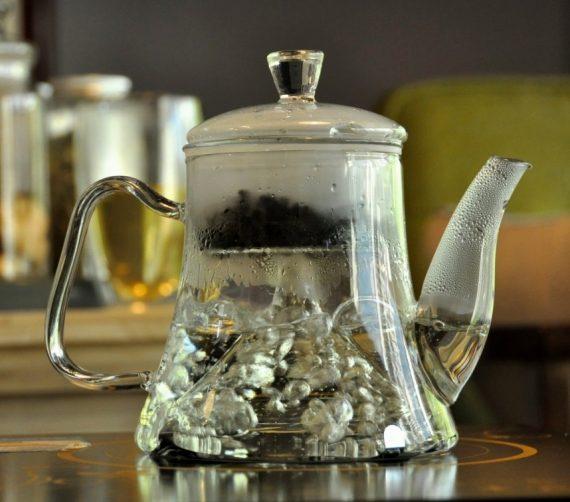 Чайник стеклянный с паровой колбой